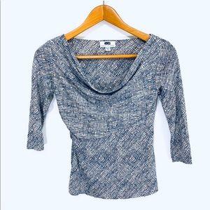 Diane Von Furstenberg Silk 3/4 Sleeve Blouse sz 2